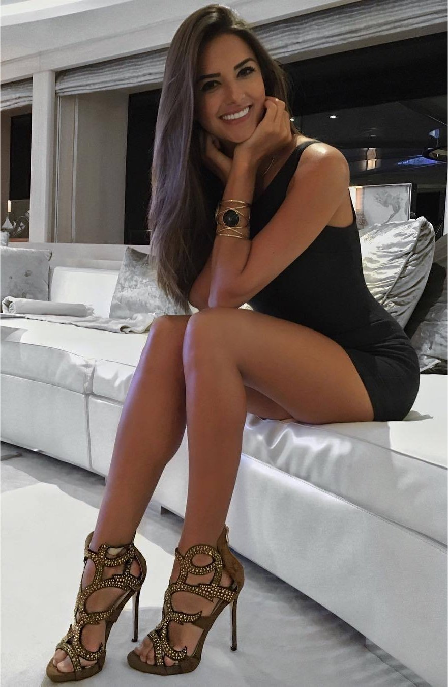 ... StyleTagged dark hair, dress, eyes, fashion, hairfashion, heels,  jewelry, legs, lips, long legs, lovely, makeup, party style, pretty, sexy,  sexy woman, ...